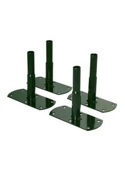 Pieds tube rond 20 mm à visser 13 cm ht 12 cm vert sapin * 4 pc