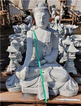 Bouddha assis béton patiné (B6)