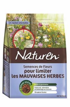 Fleurs pour limiter les mauvaises herbes  4M²