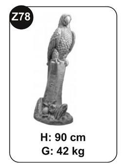 Perroquet Beton Patiné Ht 90 cm