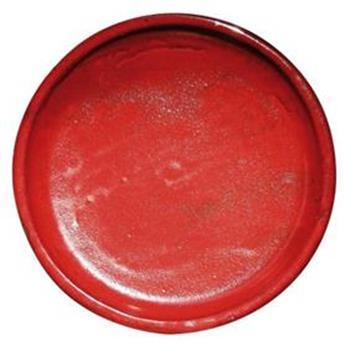 Soucoupe émaillée D 32 cm Rouge