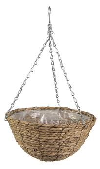 Basket Panier Around Hanging Fibre Natural D 31 H 16