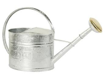 Arrosoir galvanise 0.45 mm 2 litres avec pomme métallique cuivrée