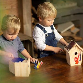 Nichoir à mésange à assembler : idéal pour les enfants.