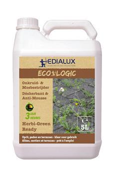 Herbi Green RTU Prêt à l´emploi 5 L Edialux ** Herbicide total sans Glyphosate **
