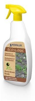 Herbi Green RTU Prêt à l´emploi 1 Litre Edialux ** Herbicide total sans Glyphosate **