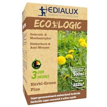 Herbi Green Plus 500 ml Edialux ** Herbicide total sans Glyphosate **