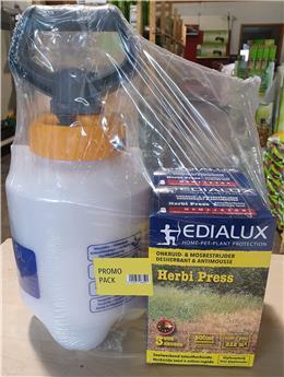 PROMO Pulvérisateur + Herbi Press Eco sans glyphosate en pack promotionnel