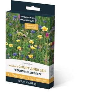 Prairie Fleurie Abeilles 16 g 3 M² plantes courtes