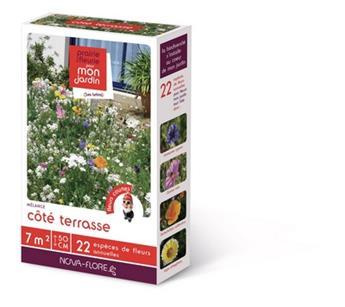 Prairie fleurie Coté terrasse 60 g 7M² Nova Flore