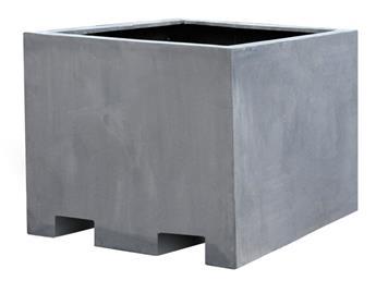 Bac cube XXL 100 100 Ht 85 cm Sydney Grey Calyfibre (Mg)