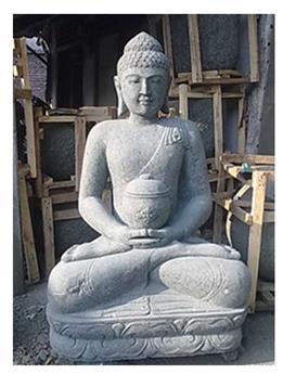 Bouddha assis avec bol Ht 62 cm