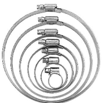 Collier de serrage large métal galva. 12-20 mm / pièce