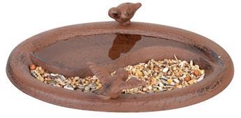 Bain oiseau abreuvoir / mangeoire en fonte à poser