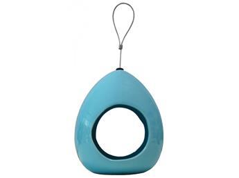Fly through feeder bleu clair