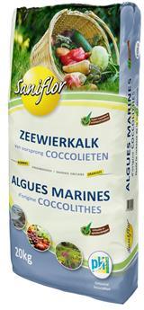 Algues marines BIO coccolithe 20kg gazon et jardin Sani
