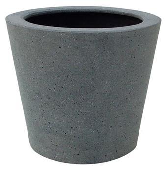 Polystone conic vase Ht 13 D 15 cm (JDB)