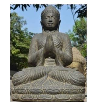 Bouddha assis en pière Ht 100 cm