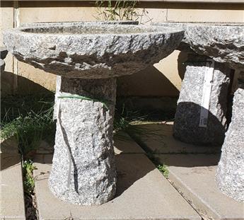 Bain oiseaux rond sur pied granit Diam 55 Ht 55cm